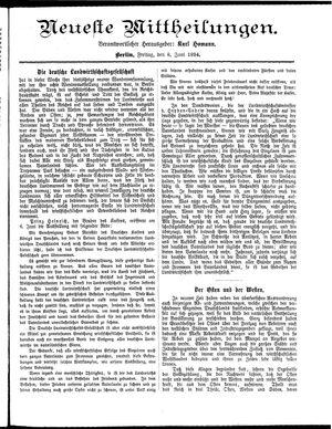 Neueste Mittheilungen vom 08.06.1894