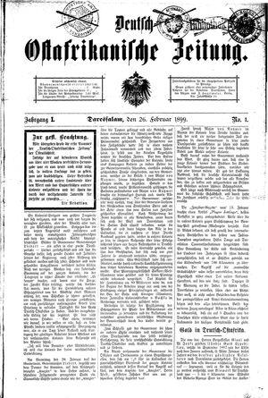 Deutsch-Ostafrikanische Zeitung vom 26.02.1899