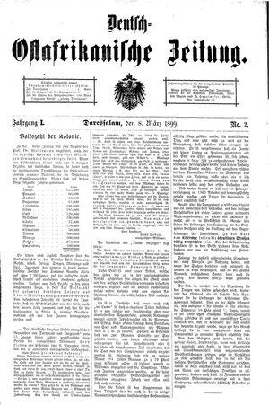 Deutsch-Ostafrikanische Zeitung vom 08.03.1899