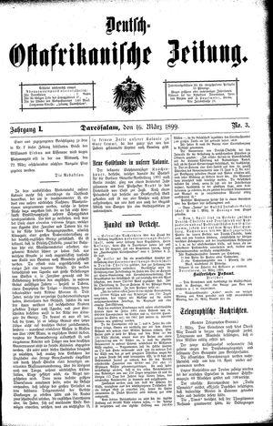 Deutsch-Ostafrikanische Zeitung on Mar 16, 1899