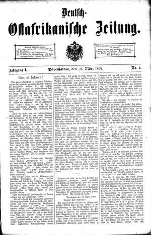 Deutsch-Ostafrikanische Zeitung vom 23.03.1899