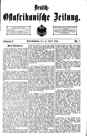 Deutsch-Ostafrikanische Zeitung on Apr 14, 1899