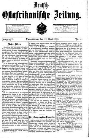 Deutsch-Ostafrikanische Zeitung vom 22.04.1899