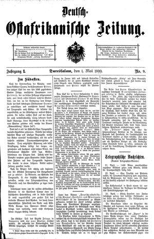 Deutsch-Ostafrikanische Zeitung vom 01.05.1899