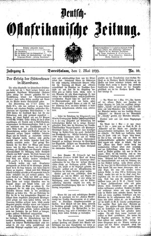 Deutsch-Ostafrikanische Zeitung vom 07.05.1899
