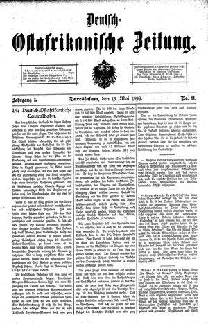 Deutsch-Ostafrikanische Zeitung vom 13.05.1899