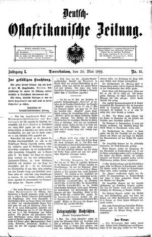 Deutsch-Ostafrikanische Zeitung vom 20.05.1899