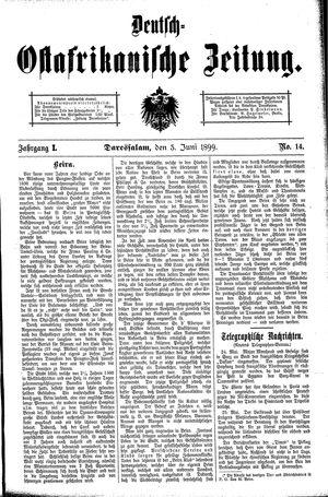 Deutsch-Ostafrikanische Zeitung vom 03.06.1899