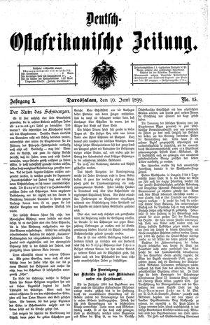 Deutsch-Ostafrikanische Zeitung vom 10.06.1899
