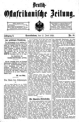 Deutsch-Ostafrikanische Zeitung vom 17.06.1899
