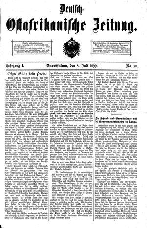 Deutsch-Ostafrikanische Zeitung vom 08.07.1899