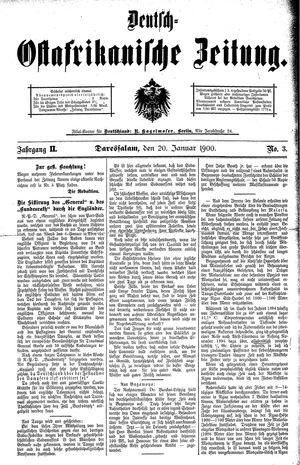 Deutsch-Ostafrikanische Zeitung vom 20.01.1900