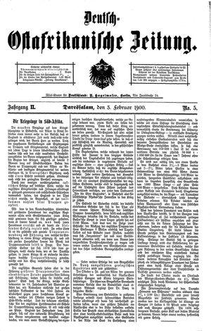 Deutsch-Ostafrikanische Zeitung on Feb 3, 1900