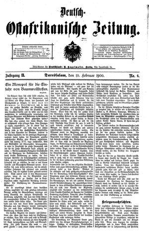 Deutsch-Ostafrikanische Zeitung vom 10.02.1900
