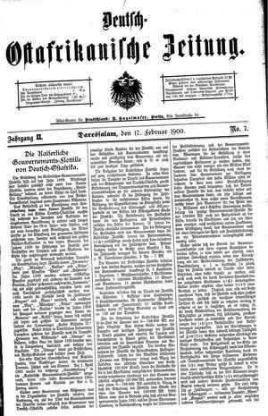 Deutsch-Ostafrikanische Zeitung vom 17.02.1900