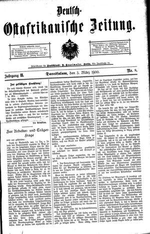 Deutsch-Ostafrikanische Zeitung vom 03.03.1900