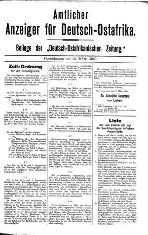 Deutsch-Ostafrikanische Zeitung vom 16.03.1900