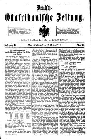 Deutsch-Ostafrikanische Zeitung vom 17.03.1900