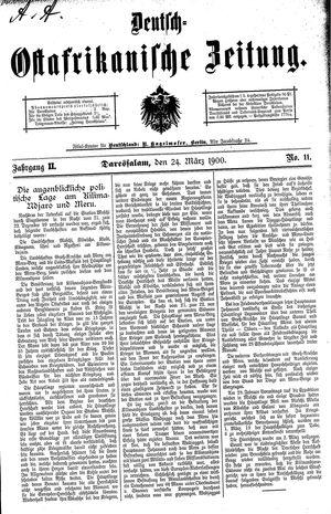 Deutsch-Ostafrikanische Zeitung vom 24.03.1900