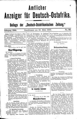 Deutsch-Ostafrikanische Zeitung vom 29.03.1900
