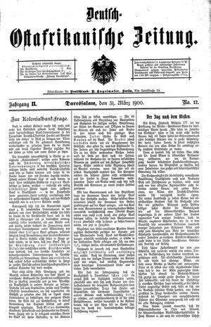 Deutsch-Ostafrikanische Zeitung vom 31.03.1900