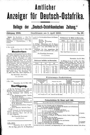 Deutsch-Ostafrikanische Zeitung vom 05.04.1900