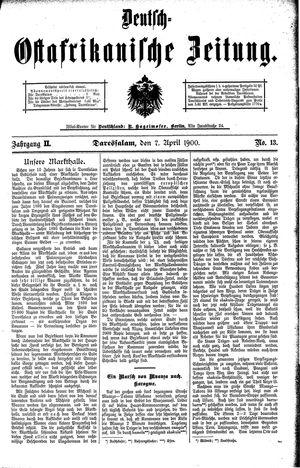 Deutsch-Ostafrikanische Zeitung vom 07.04.1900
