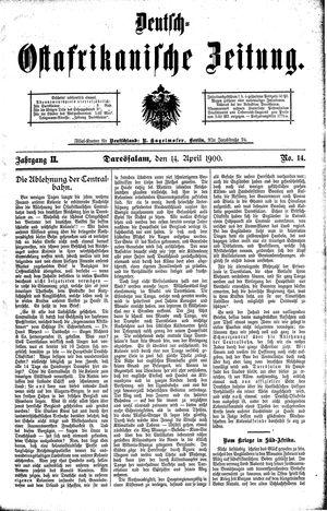 Deutsch-Ostafrikanische Zeitung vom 14.04.1900
