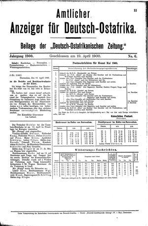 Deutsch-Ostafrikanische Zeitung vom 19.04.1900