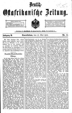 Deutsch-Ostafrikanische Zeitung vom 12.05.1900