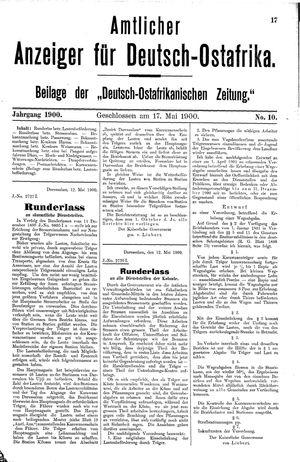 Deutsch-Ostafrikanische Zeitung vom 17.05.1900