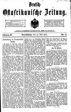 Deutsch-Ostafrikanische Zeitung vom 19.05.1900