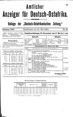 Deutsch-Ostafrikanische Zeitung vom 24.05.1900