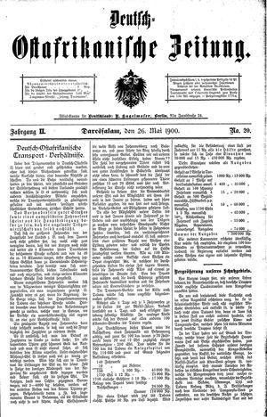Deutsch-Ostafrikanische Zeitung vom 26.05.1900