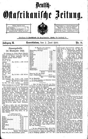 Deutsch-Ostafrikanische Zeitung vom 02.06.1900