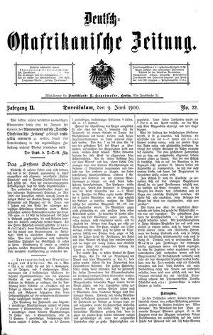 Deutsch-Ostafrikanische Zeitung vom 09.06.1900
