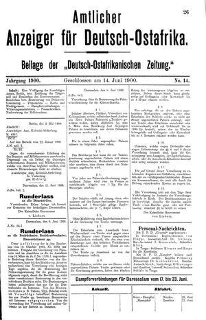 Deutsch-Ostafrikanische Zeitung vom 14.06.1900