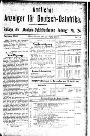 Deutsch-Ostafrikanische Zeitung vom 21.06.1900