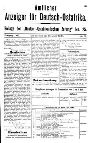Deutsch-Ostafrikanische Zeitung vom 28.06.1900