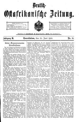 Deutsch-Ostafrikanische Zeitung vom 30.06.1900
