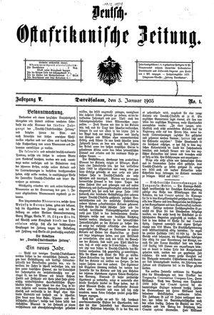 Deutsch-Ostafrikanische Zeitung on Jan 3, 1903