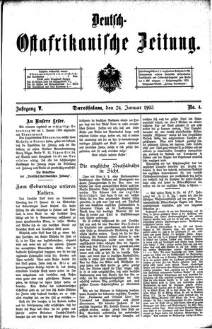 Deutsch-Ostafrikanische Zeitung vom 24.01.1903