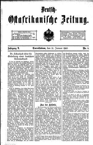 Deutsch-Ostafrikanische Zeitung vom 31.01.1903