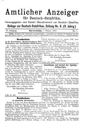 Deutsch-Ostafrikanische Zeitung vom 07.02.1903