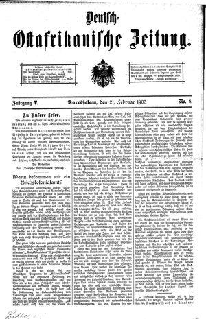 Deutsch-Ostafrikanische Zeitung vom 21.02.1903
