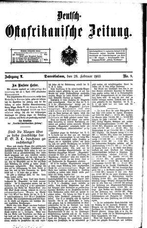 Deutsch-Ostafrikanische Zeitung vom 28.02.1903