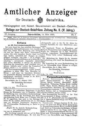 Deutsch-Ostafrikanische Zeitung vom 14.03.1903