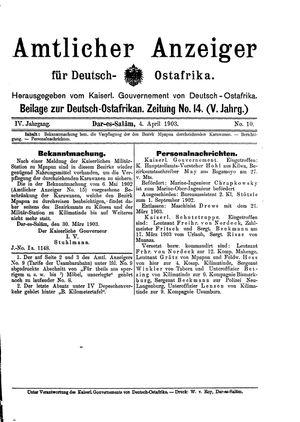 Deutsch-Ostafrikanische Zeitung vom 04.04.1903