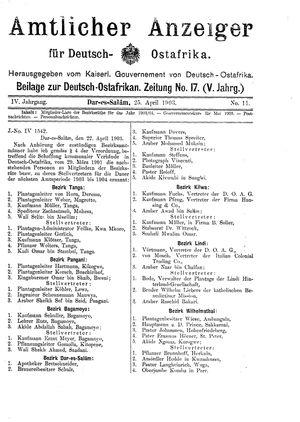 Deutsch-Ostafrikanische Zeitung vom 25.04.1903