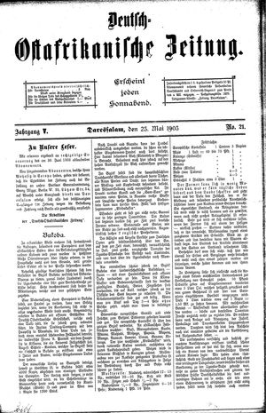 Deutsch-Ostafrikanische Zeitung vom 23.05.1903